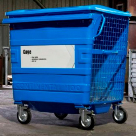 Taylor Continental Wheeled Cage Bin - 1100 Litre Capacity