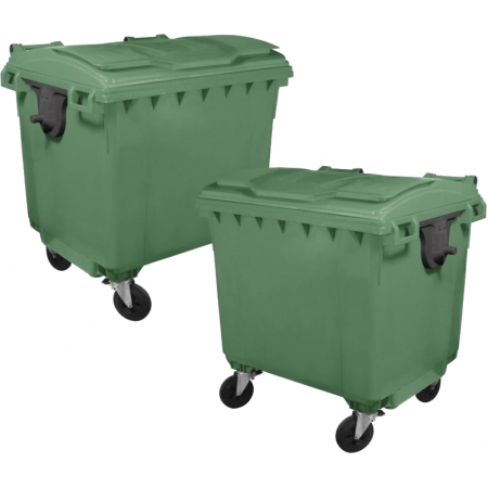 Taylor 660 Litre Wheeled Eco-Bin - x2 Containers