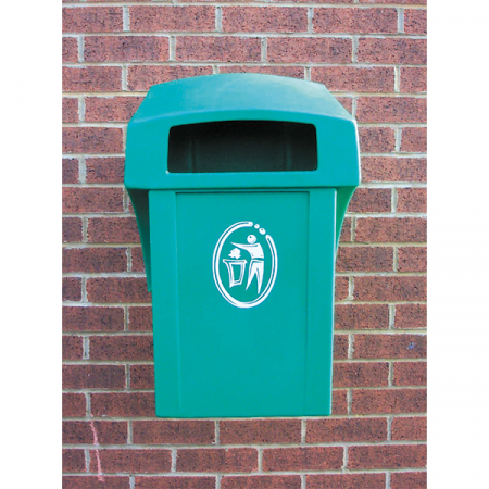 Wall Mountable Litter Bin - 26 Litre Capacity
