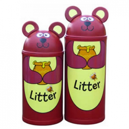 Animal Kingdom Bear Litter Bin