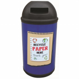 Classic Paper Recycling Bin - 90 Litre