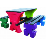 Junior Jigsaw Table & Bench Set - 4 Seater