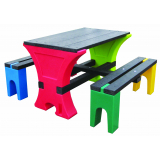 Junior Table & Bench Set - 4 Seater