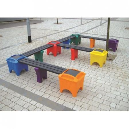 Modular Seating - E Shaped Bench