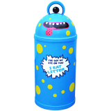 Monster Litter Bin - Blue