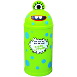 Monster Litter Bin - Green