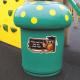 Mushroom Litter Bin - 90 Litre