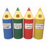 Midi Pencil Recycling Bin - 52 Litre