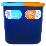 Popular Twin Recycling Bin - 140 Litre