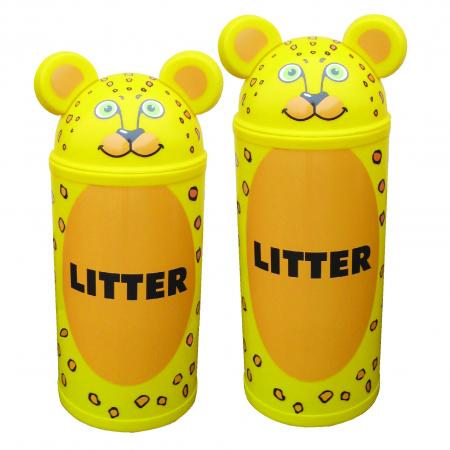 Animal Kingdom Leopard Litter Bin