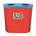 Popular Twin Litter Bin - 140 Litre