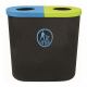 Popular Twin Litter Bin - 140 Litre
