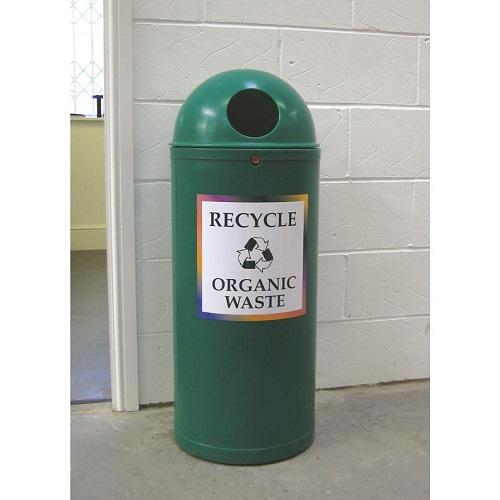 Slimline classic recycling bin 52 litre capacity buy online from bin shop - Slimline waste bin ...
