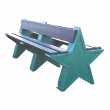 6 Seater Star Bench