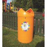 Twist Litter Bin with Frog Logo - 90 Litre
