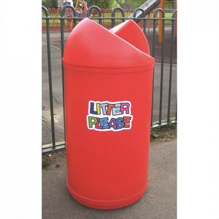 Twist Litter Bin with Litter Please Logo - 90 Litre
