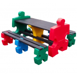 Jigsaw Table & Bench Set - 8 Seater