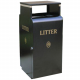 Valley Litter Bin with Bait Box - 100 Litre Capacity
