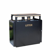 Valley Litter Bin -  200 Litre Capacity