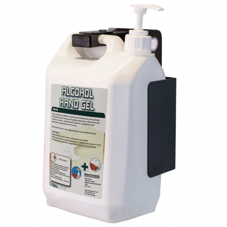Wall Mounted Hand Sanitiser Station with Low Dosage Pump for 5-Litre Bottles