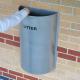 Semi-Circular Litter Bin - 48 Litre Capacity