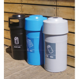 Hooded Top Recycling Bin - 84 Litre