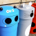 Set of 4 Animal Face Litter Bins