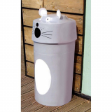 Mouse Animal Face Litter Bin - 90 Litre