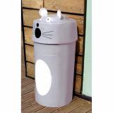 Mouse Animal Face Litter Bin - 90 Litre