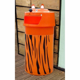 Tiger Animal Face Litter Bin - 90 Litre