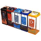 Box Cycle Animal Face Recycling Bin - 60 Litre Capacity