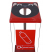 Box Cycle Animal Face Recycling Bin - 60 Litre Capacity