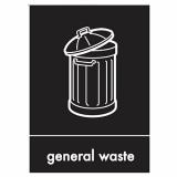 General Waste Perspex Plate