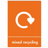 Mixed Recycling Perspex Plate