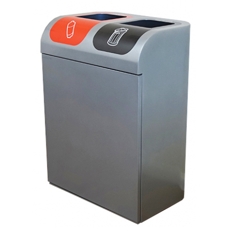 Lute Double Recycling Bin - 160 Litre