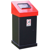 Large Capacity Heavy Duty Steel Dog Waste Bin