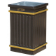 GRP Square Fluted Open Top Litter Bin - 112 Litre