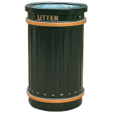 GRP Circular Fluted Open Top Litter Bin - 84 Litre Capacity