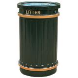 GRP Circular Fluted Open Top Litter Bin - 84 Litre Capacity