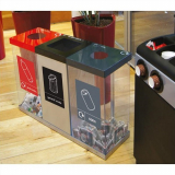 Box Cycle Triple Recycling Bin