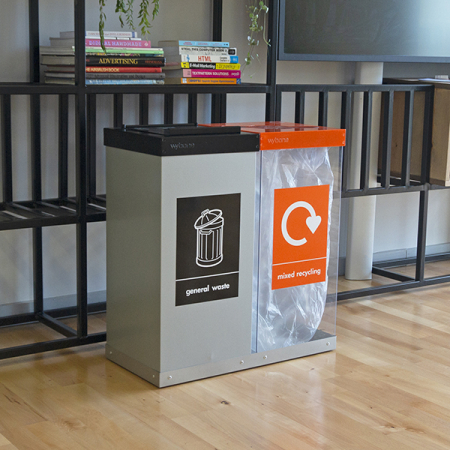 Box Cycle Double Internal Recycling Bin