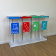 Box Cycle Quad Internal Recycling Bin
