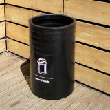 Open Top Litter Bin - 91 Litre Capacity
