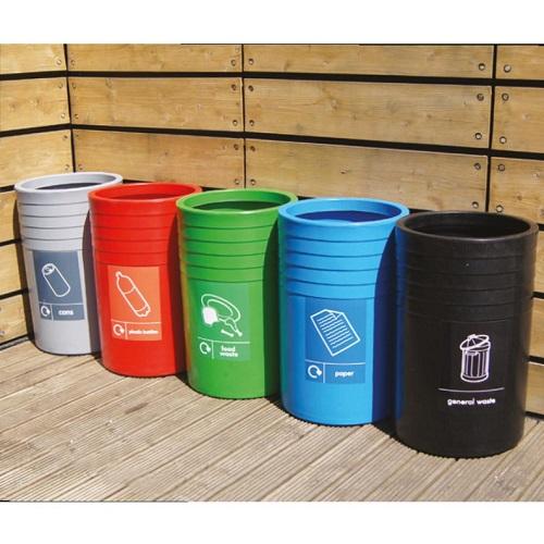 Wheelie Bin Cleaning >> Circular Open Top Recycling Bin - 91 Litre Capacity - Buy online from Bin Shop