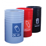 Open Top Recycling Bin - 91 Litre