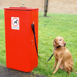 Heavy Duty Steel Dog Waste Bin