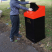 Large Capacity Heavy Duty Steel Dog Waste Bin