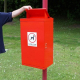Post Mountable Front Opening Galvanised Steel Dog Waste Bin with Chute