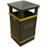 GFC Closed Top Litter Bin - 112 Litre Capacity