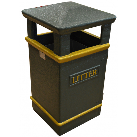 GFC Closed Top Litter Bin - 112 Litre Capacity